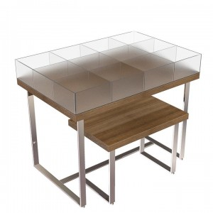 Nesting Tables With Plexi Bins
