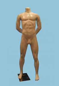 Headless Male Mannequin With Metal Base