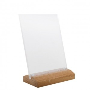 Table Top Wooden Base Sign Holder