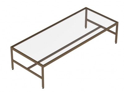 """72""""(L), Table With Glass Top"""