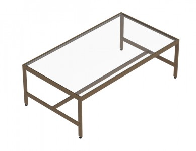 """53""""(L), Table With Glass Top"""