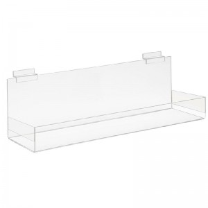 Clear Acrylic Shelf for Slatwall