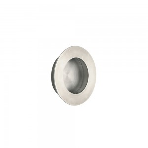 Mini Round Flush Pull-Satin Nickel