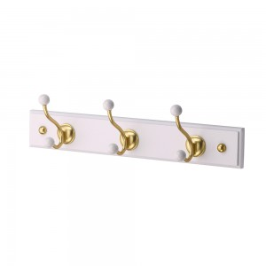 Hook Rail-Satin Brass