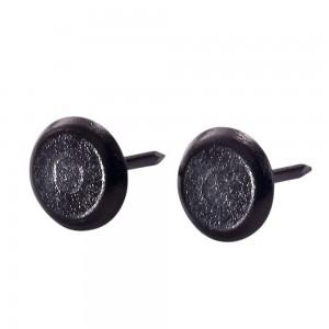 Round Head Furniture Nails - Black