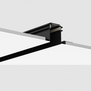 Magnetic led track rail trimless