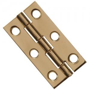 "Narrow Hinge Solid Brass 2"""