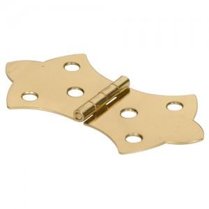 "Decorative Hinge Solid Brass 1-5/16"""