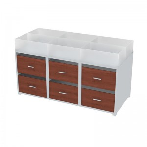 Drawer Table With Plexi Bins